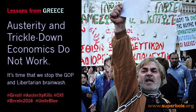 Lessons from Greece: Austerity and Trickle Down Economics Do Not Work